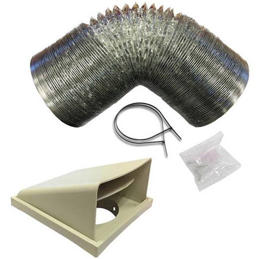 Prima 125/150mm Stainless Steel Ducting Kit